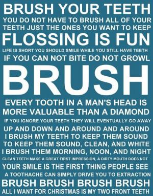 Printables Teeth Brushes, Teeth Quotes, Diy Bathroom, Dental Quotes ...