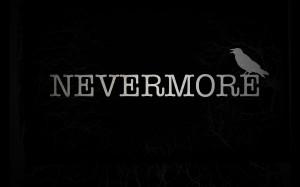 Dark - Animal The Raven Nevermore Edgar Allan Poe Bird Black Wallpaper