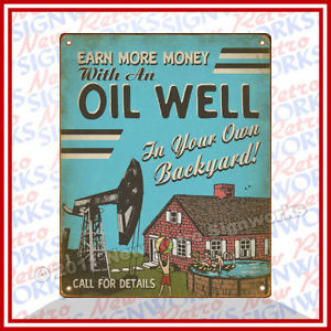 Details about Oil Well SIGN Funny Backyard Oilfield Live Pump Crude ...