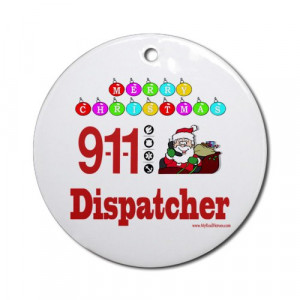 911 Dispatcher Christmas Gift Ornament Round Round Ornament