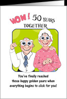 Humorus 50th Wedding Anniversary, cute older couple card - Product ...