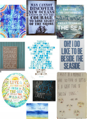 sea quotes prints and ilustrations
