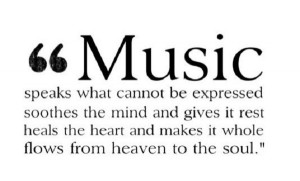 musical quote music is the best solution turn on music