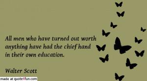 Sir Walter Scott quote #homeschooling