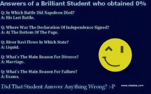 teacher and student jokes-funny jokes-examination-Brilliant Student