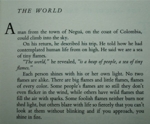 from The Book of Embraces by Eduardo Galeano. One of my most favorite ...
