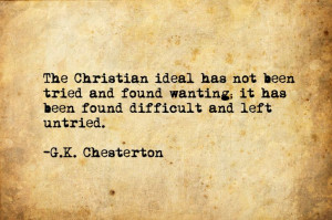 Chesterton Quote | Christianity