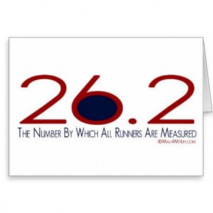 26.2 – The Number Quote Greeting Card