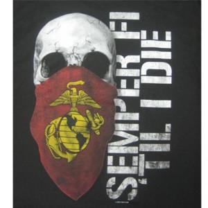 Semper Fi Marines Black T-Shirt