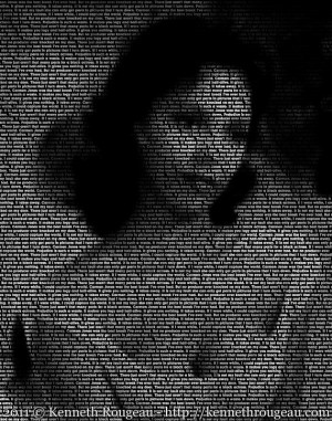 Dorothy Dandridge - 11x14 Typographical Portrait Fine Art Print