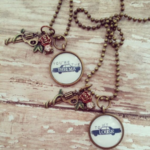Thelma and Louise best friend necklace by 1111VintageCreations, $42.00