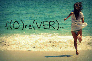 It's funny how forever is over.
