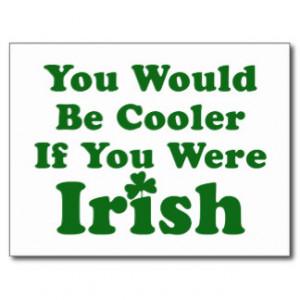 Funny Irish Saying Post Card