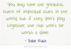 Softball Team Quotes #teamwork #quotes