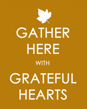 Thanksgiving Prayer » Grateful Hearts printable