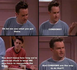 funny quotes about condoms, friends tv show