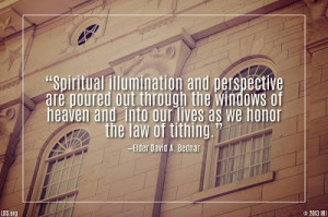 Spiritual illumination and perspective are poured out through the ...