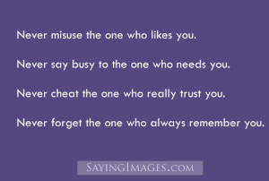 Never Cheat The One Who Really Trust You: Quote About Never Cheat The ...