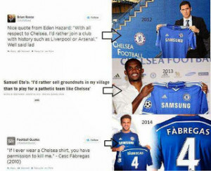... Cesc Fabregas and Samuel Eto'o's nasty quotes before joining Chelsea