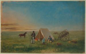 Paul Kane Camping on the Prairie