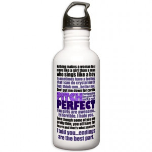 Pitch Perfect Quotes Stainless Water Bottle 1.0L