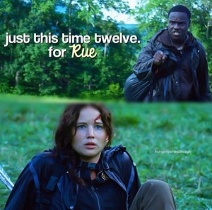 Thresh and Katniss so touching