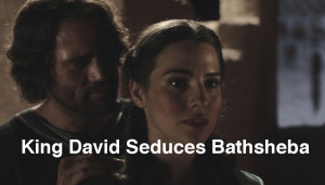 captioned King David Seduces Bathsheba