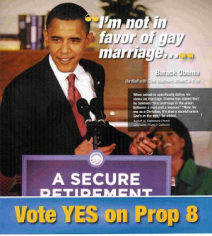 Obama against gay marriage