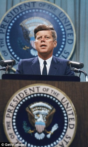 ... with President John F Kennedy, albeit before he was in the White House