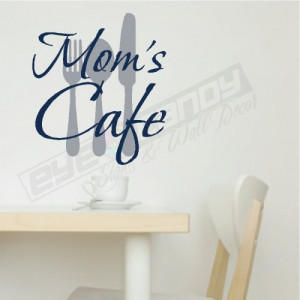 Moms Cafe...Kitchen Wall Words Sayings Quotes Lettering Decals Art