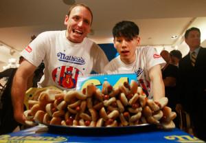 Takeru Kobayashi - Nathans Hot Dog Eating Contest Champions Attend ...