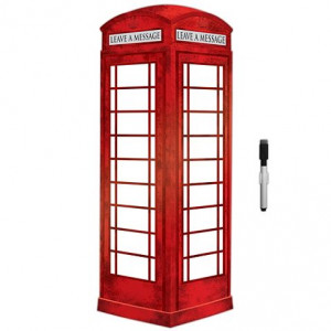 London Phone Booth Dry Erase Message Board