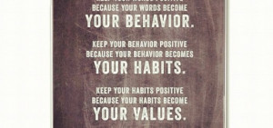 your behavior. Keep your behavior positive because your behavior ...