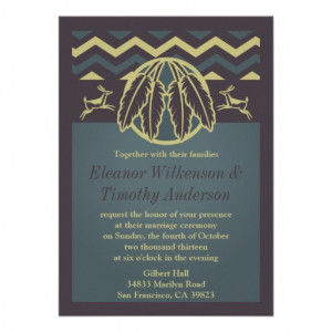 Native American Wedding Invitations from Zazzle.com
