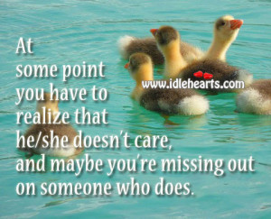 At some point you have to realize that he/she doesn't care, and ...