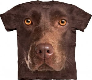 Chocolate Lab Face [1035500] - £21.49 : The Mountain T Shirts UK ...