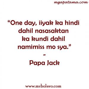 tagalog love quotes papa jack twitter papa jack tagalog