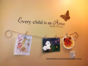 Make a Fabulous Art Gallery for your Kids Art