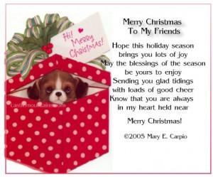 printable friendship christmas poems | SodaHead.com - SPAZ is Back ...