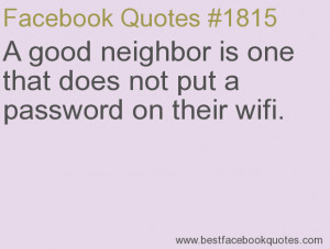 Good Neighbor Quotes and Sayings