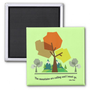 Nature Quotes Refrigerator Magnets