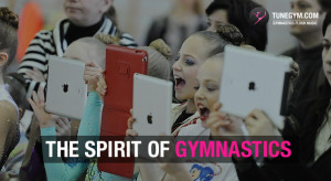 young gymnastics fans cheering @ Tunegym.com gymnastics floor music