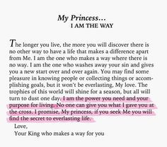 HIs PRINCESS : letter from God !