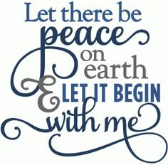 ... View Design #53033 : let there be peace on earth - layered phrase More