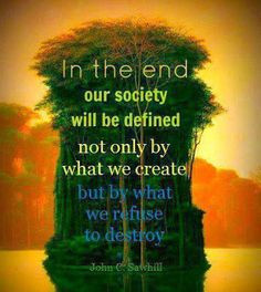 In the end our society will be defined not only by what we create but ...