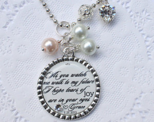 ... gift for mom on your wedding day, daughter to mother wedding jewelry