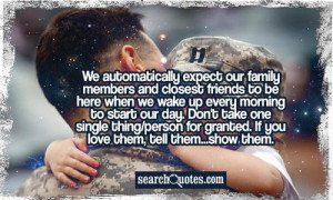 We automatically expect our family members and closest friends to be ...