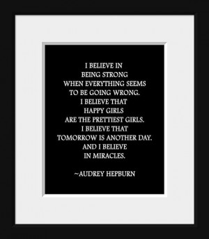 Audrey Hepburn Old Hollywood quote typography by IDefineMeProject, $10 ...