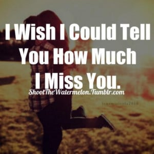wish i could tell you how much i miss you break up quote