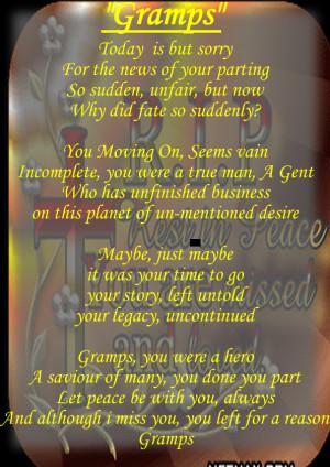 Gramps - RIP Poem by BlaizeChampion on deviantART